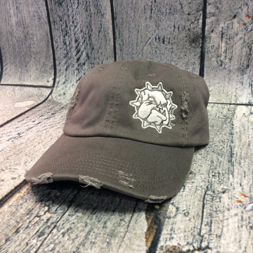 SWOSU - Charcoal Distressed Adjustable Cap - Grey Bulldog