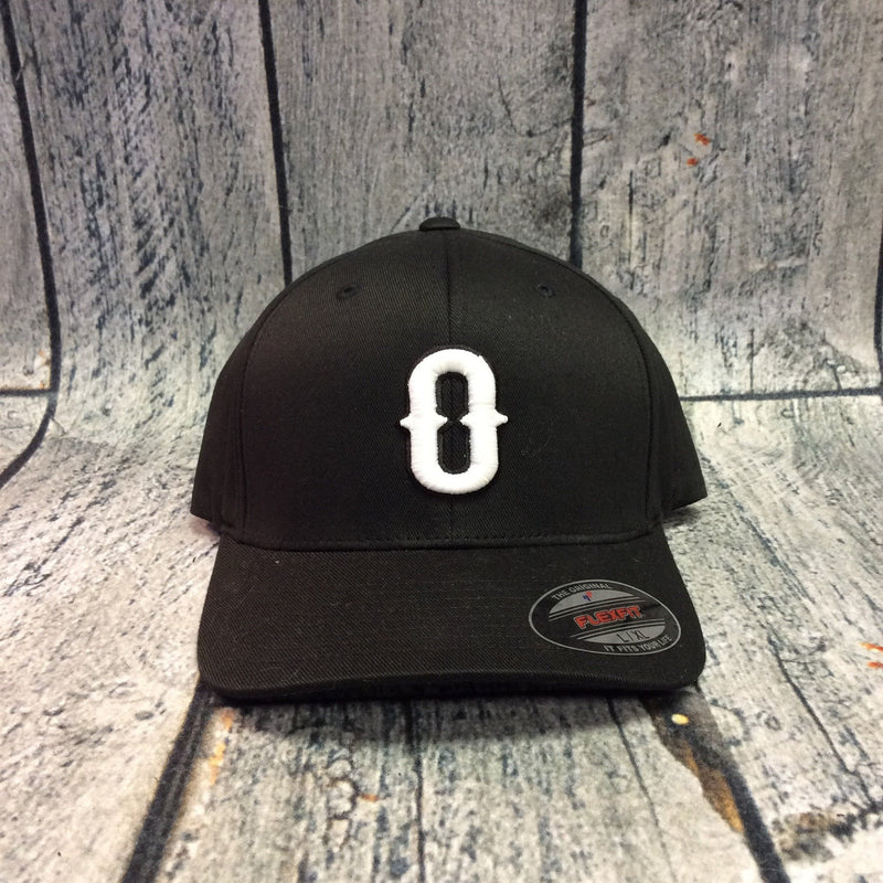 Okie - Black Fitted Cap - O