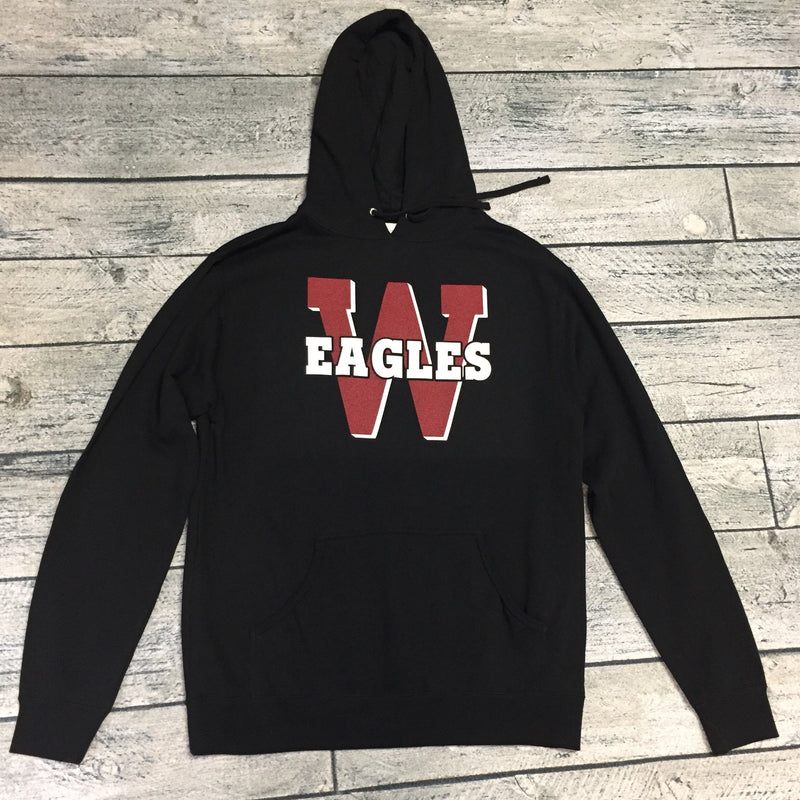 Eagles - Black Weatherford W- Adult Hoodie