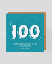 Load image into Gallery viewer, 100th - Greetings Card