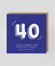 Load image into Gallery viewer, 40th - Greetings Card
