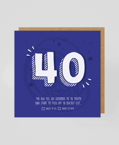 40th - Greetings Card