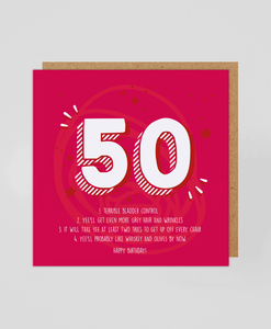 50th - Greetings Card