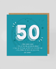 Load image into Gallery viewer, 50th - Greetings Card