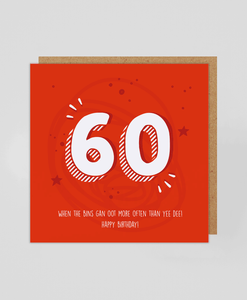 60th - Greetings Card