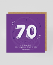Load image into Gallery viewer, 70th - Greetings Card