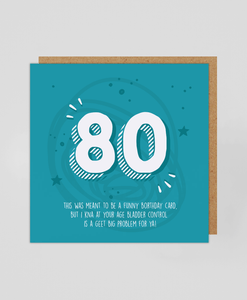 80th - Greetings Card