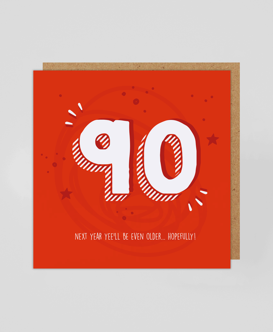 90th - Greetings Card