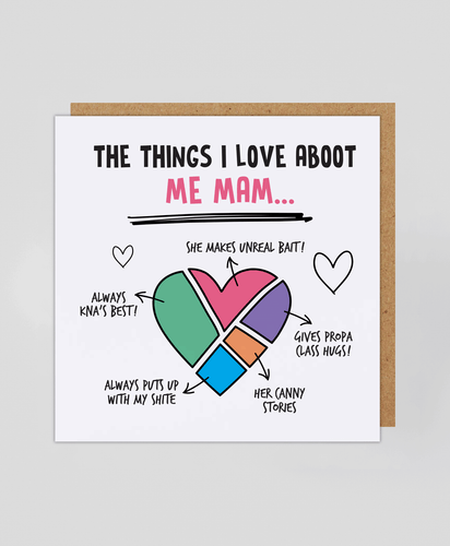 Aboot Me Mam - Greetings Card