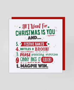 All I Want For Christmas - Greetings Card