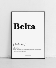 Load image into Gallery viewer, Belta - Geordie Dictionary Print
