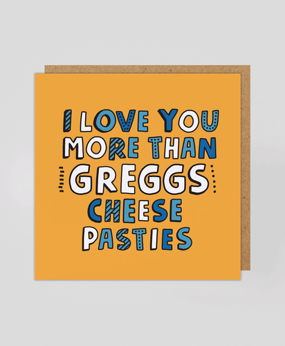 Cheese Pasty - Greetings Card