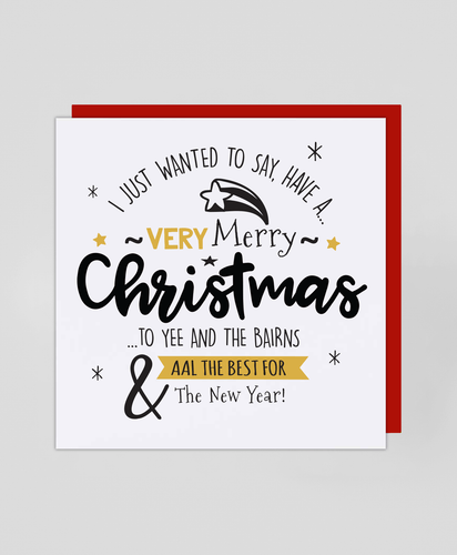 Yee & The Bairns - Christmas Card