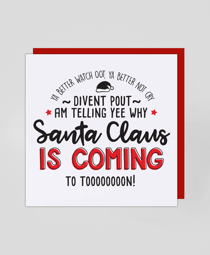 Coming To Toon! - Christmas Card