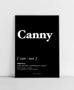 Canny - Geordie Dictionary Print