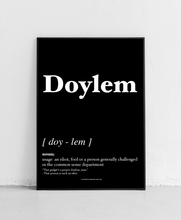 Load image into Gallery viewer, Doylem - Geordie Dictionary Print