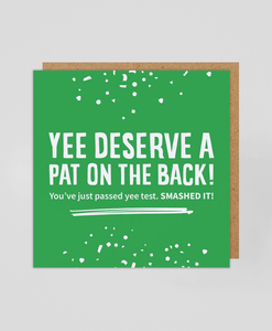 Past Yee Test - Greetings Card