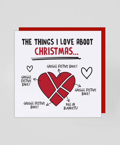 I Love Aboot Christmas - Christmas Card