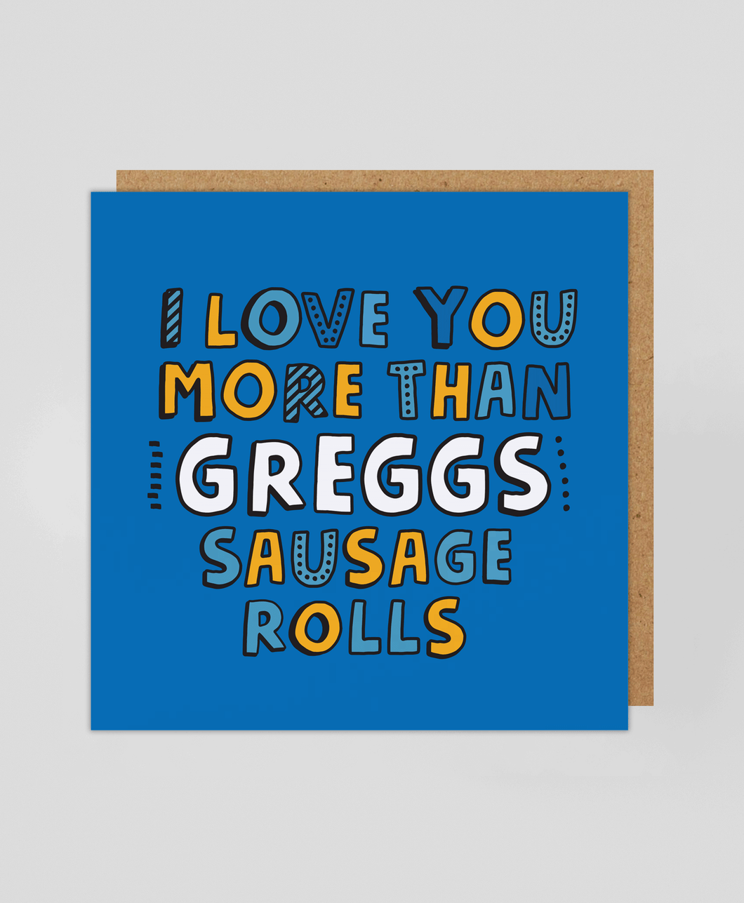 Sausage Roll - Greetings Card