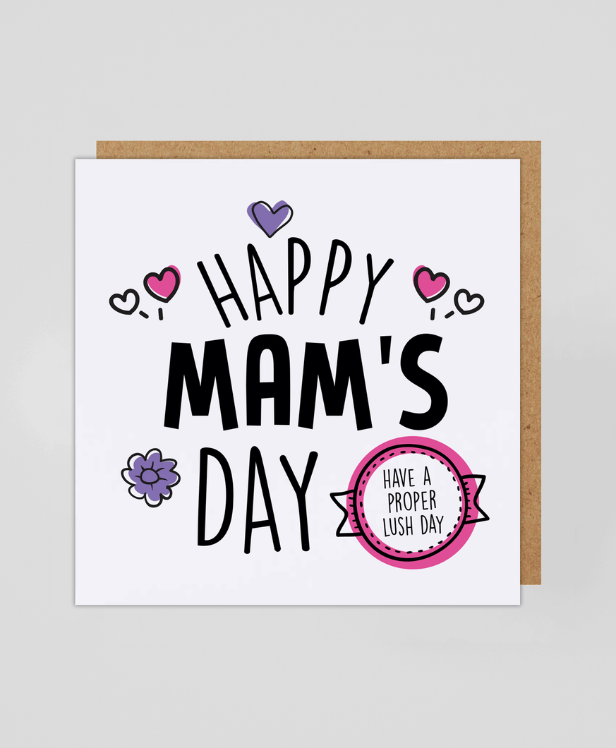 Happy Mam's Day - Greetings Card