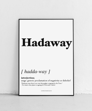 Load image into Gallery viewer, Hadaway - Geordie Dictionary Print