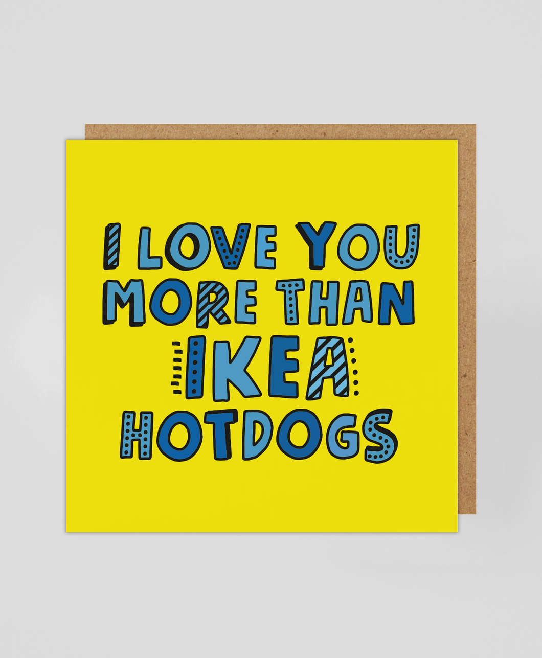 IKEA Hotdogs - Greetings Card