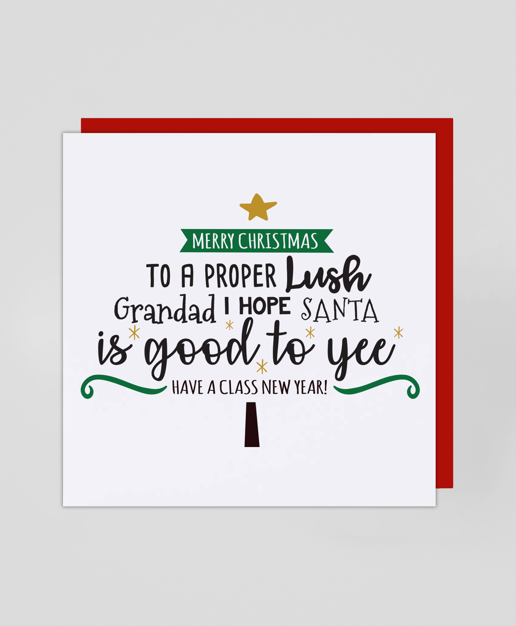 Lush Grandad - Christmas Card