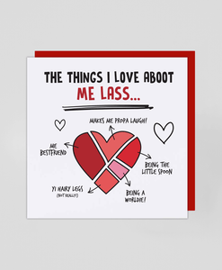 Aboot Me Lass - Greetings Card