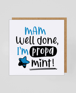 Mam Propa Mint (Blue) - Greeting Cards
