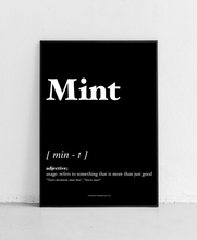 Load image into Gallery viewer, Mint - Geordie Dictionary Print