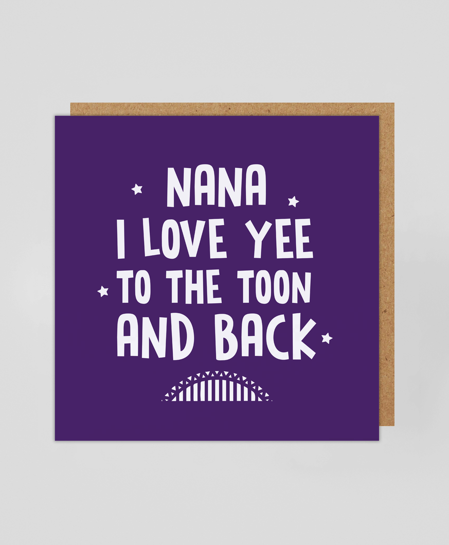 Nana Toon & Back - Greetings Card