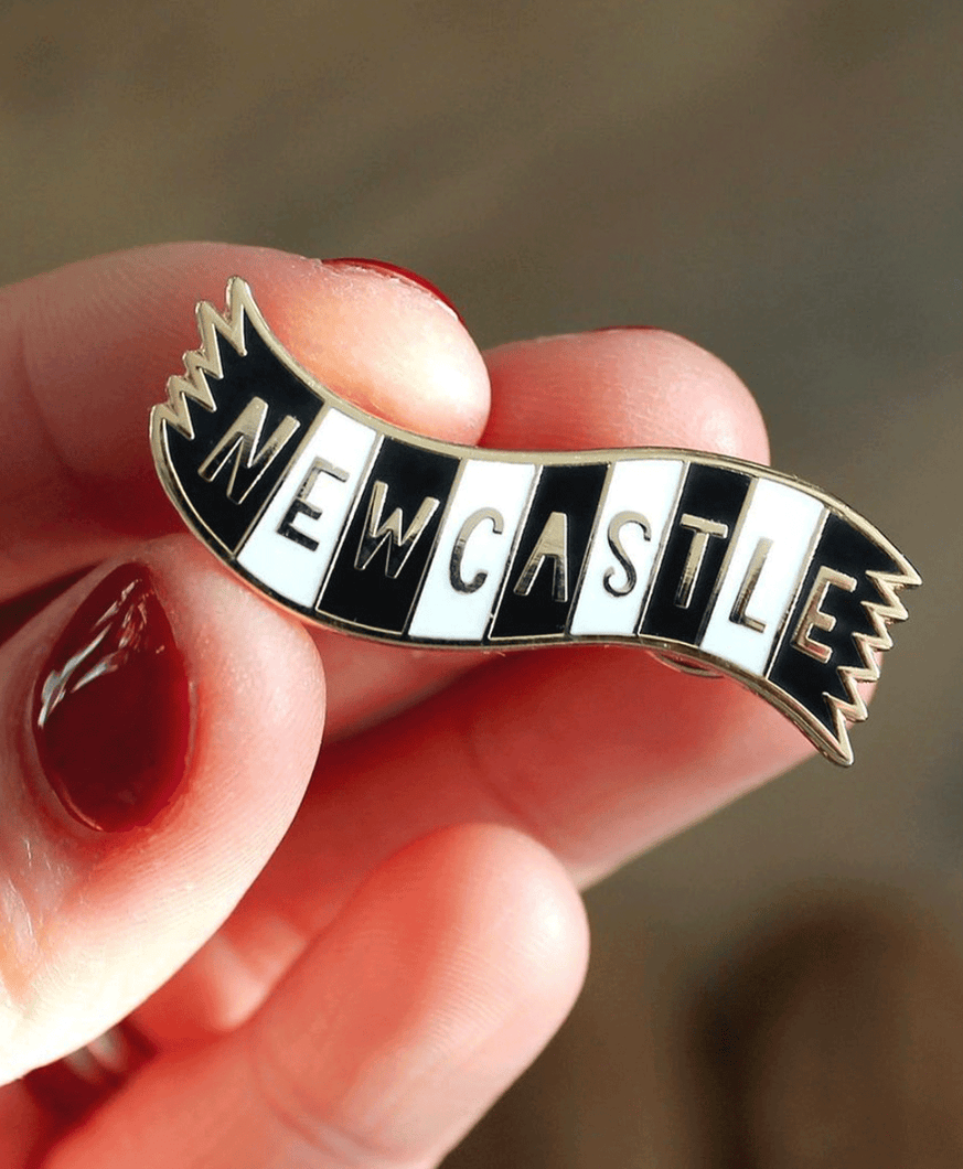 Newcastle Scarf - Enamel Pin Badge