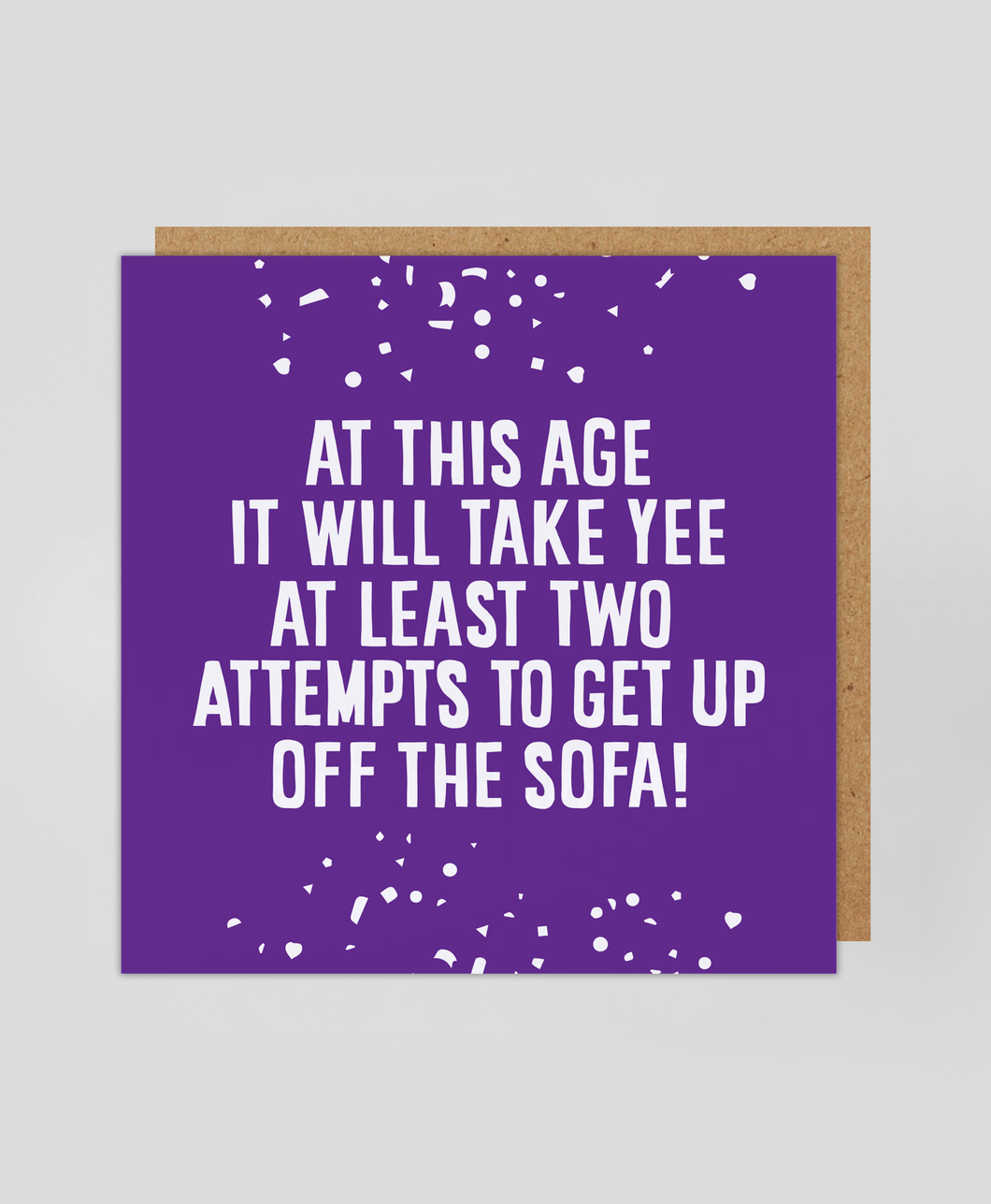 Off The Sofa - Greetings Card