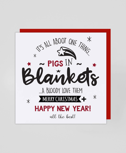 Pigs In Blankets - Christmas Card