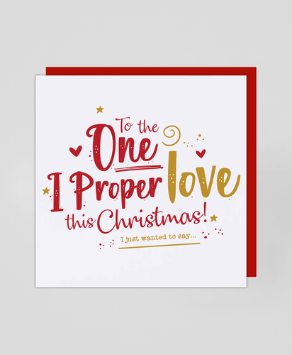 Proper Love - Christmas Card