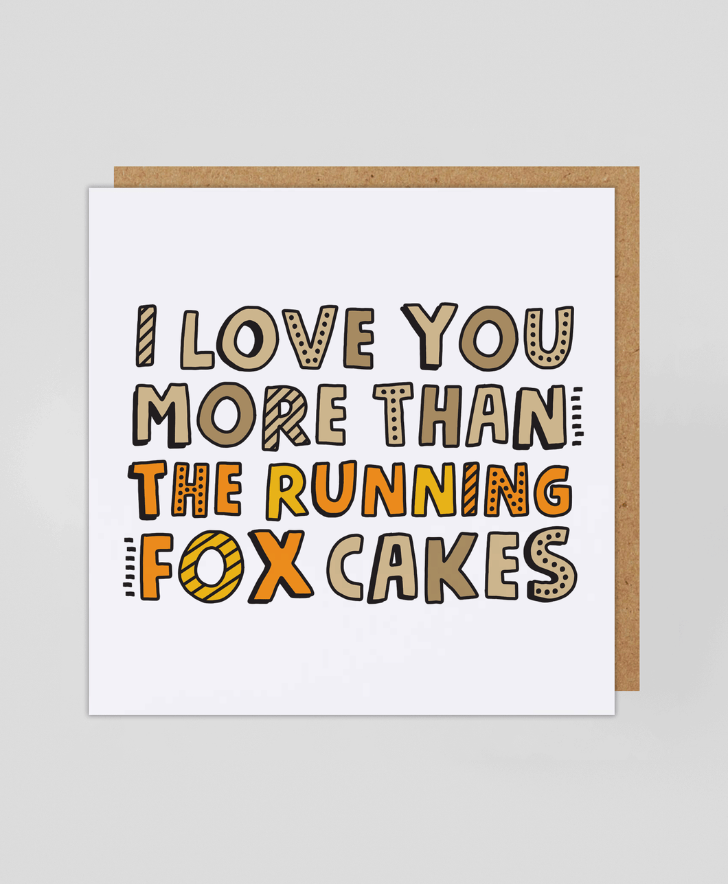 Running Fox - Greetings Card