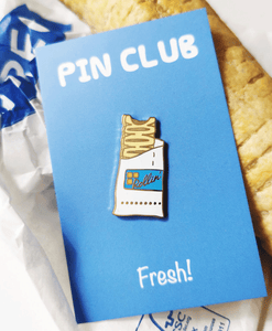 Vegan Sausage Roll - Enamel Pin Badge