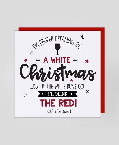 White Wine - Christmas Card