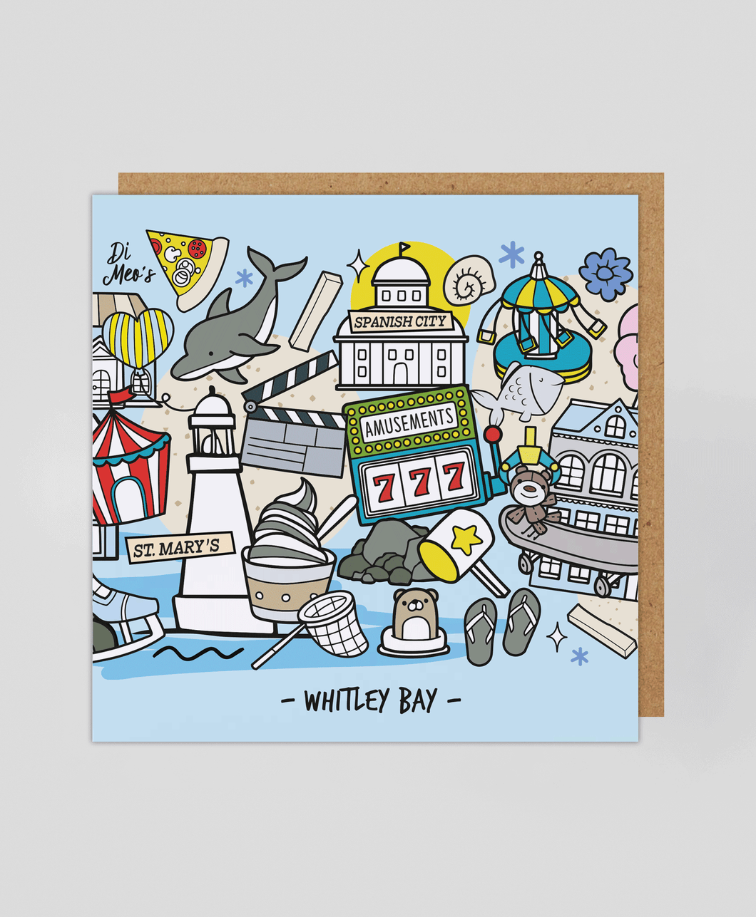 Whitley Bay - Greetings Card