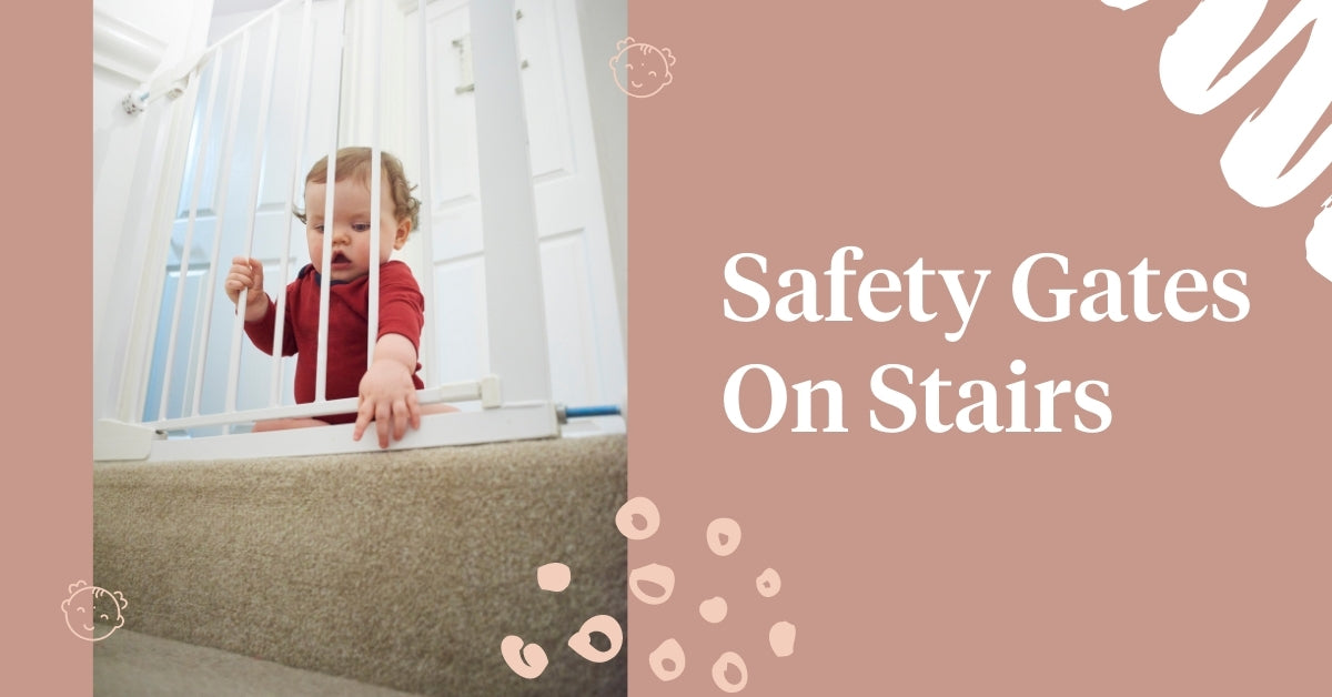 Safety gates on stairs