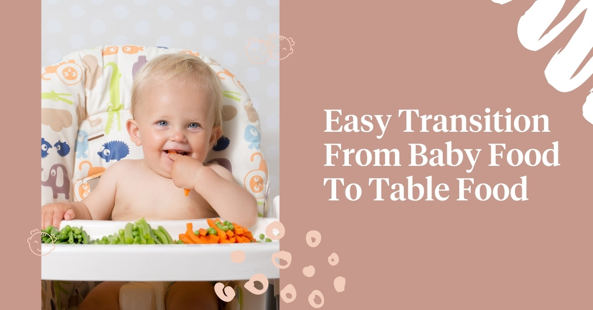 Transition from baby food to table food