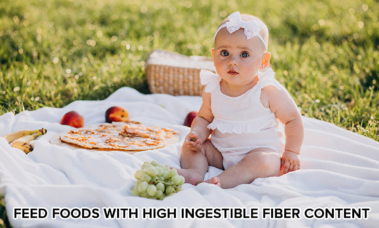 Feed foods with high Ingestible Fiber Content