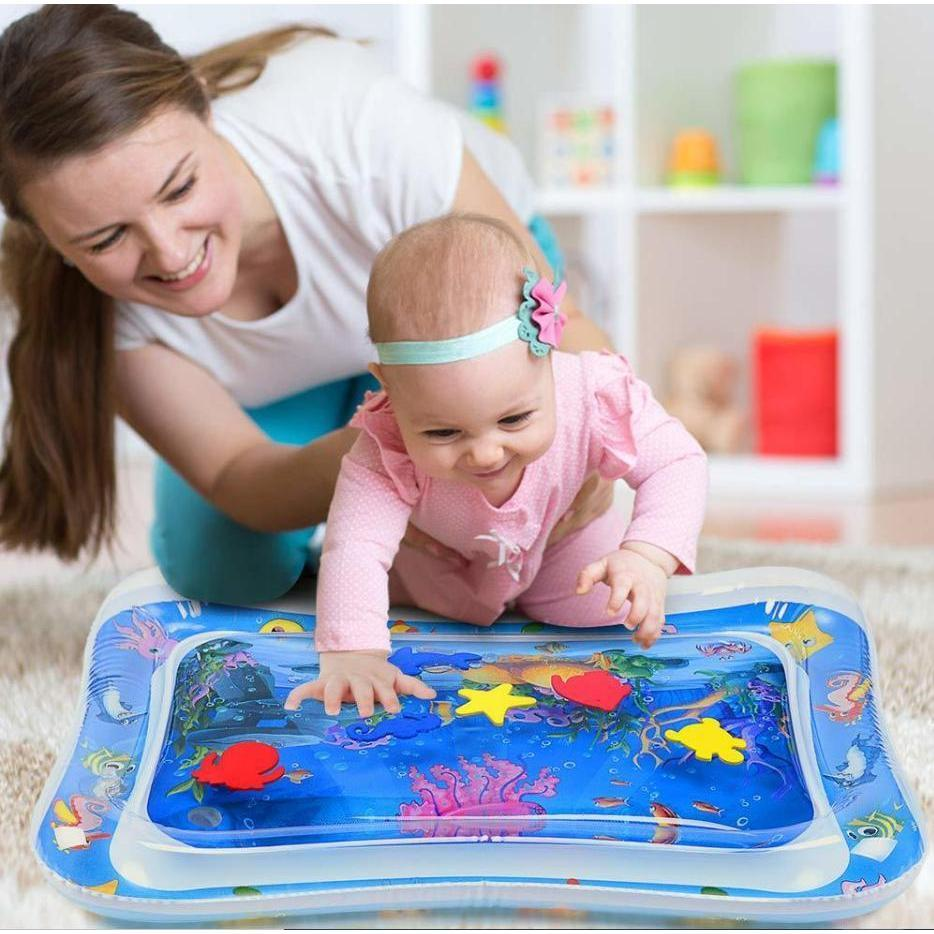 Little Paw Tummy Time Water Play Mat