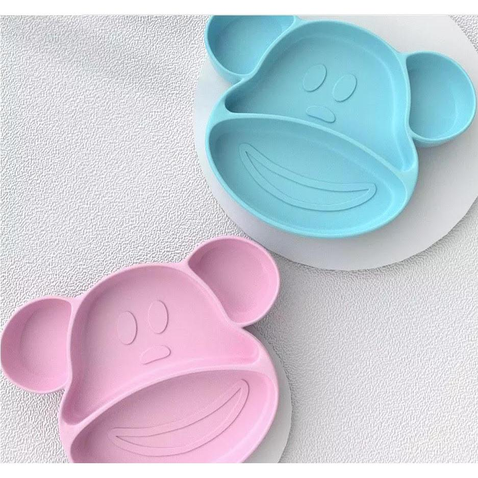 Mishka & Meg the Monkey Silicone Suction Plate