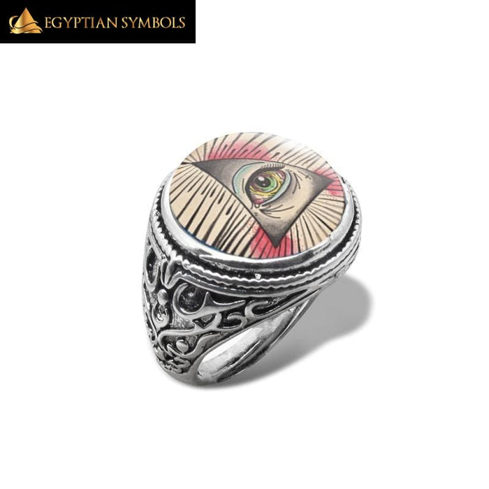 EGYPTIAN RING - Illuminati Symbol