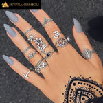 EGYPTIAN RING - 12PCS/Set Vintage Cross