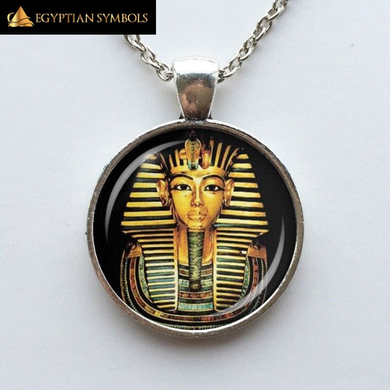Egyptian Pharaoh Glass Dome Necklace