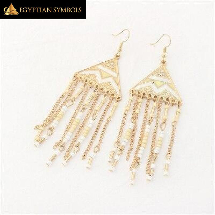 Egyptian Pyramid Earrings