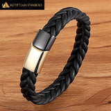 Egyptian Bracelet - Black Gold Magnetic Unique shape