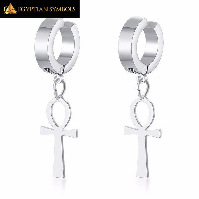 Ankh Egyptian Earrings for Men